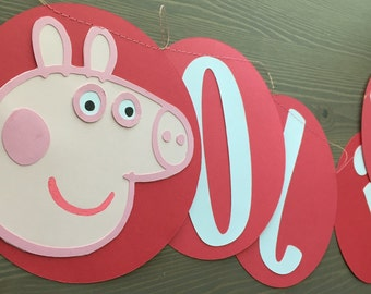 Peppa Pig Themed Party Banner Peppa Pig Party