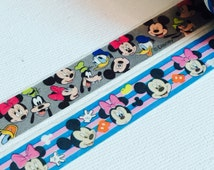 2 Rolls Japanese Disney Washi Tape  Mickey Mouse, Minnie Mouse and Friends