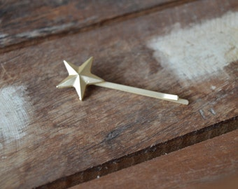 Golden Star bobby pins, a set of two.