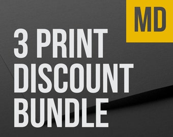 Choose any 3 MEDIUM prints as a bundle