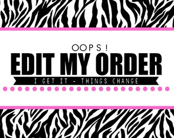 ADD-ON: Edit My Order!