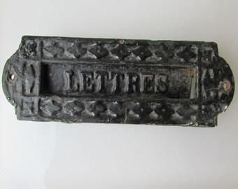 Antique Frenche letter box / Vintage Lettres Portes / vintage wallplaque