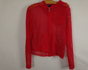 red mesh jacket size M