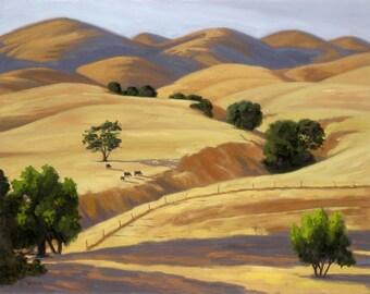 Ceramic Art Tile: Velvet Hills in San Miguel, CA