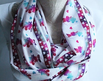 Minnie Mouse Scarf Infinity Scarf Mickey Mouse Party Galaxy Scarf Circle Scarf Women Fashion Accessories Gift for Her Gift Ideas