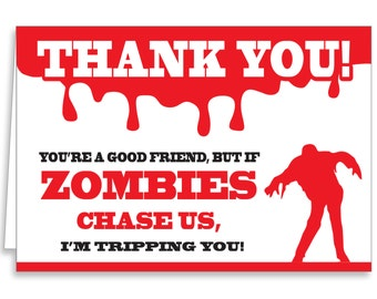 Guajolote Prints Zombie Thank You Cards & Envelopes 12-Pack