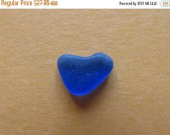 Sea glass blue heart