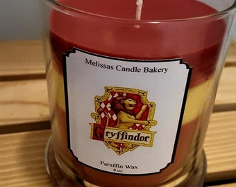 Gryffindor House pride candle, Harry Potter candle, Hogwarts candle