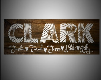 Custom Quote Sign, Very Large Wood Sign, Personalized Wood, Family Name, Custom Family, Last Name Sign, Wedding Gift, Blended Family,