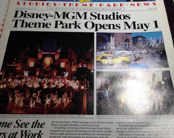 Vintage Disney MGM Park News Opening Day