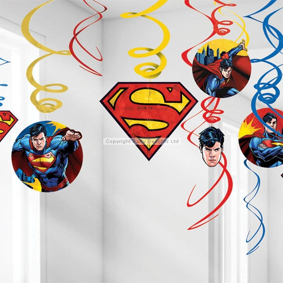 superman vs batman birthday party decor supplies by evescrafts. Black Bedroom Furniture Sets. Home Design Ideas