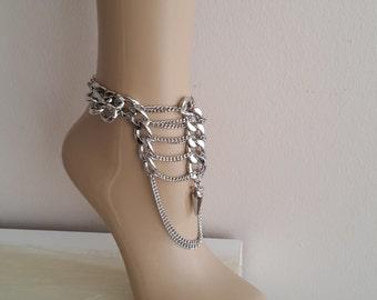 Gypsy Chain Anklet - Elegant Anklet,gift for Her,Boot Bling Anklet ,