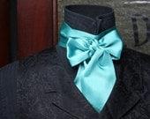 floor model aquamarine cravat