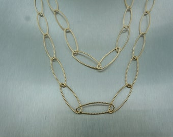 Oval Link Long Necklace