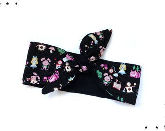 Rockabilly headband kawaii Alice in wonderland black