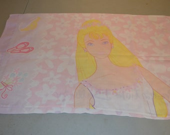Vintage Dreamtime Ballerina Barbie Children's Pillow Case