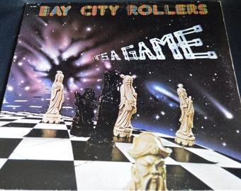 Vintage Vinyl Gatefold Record Bay City Rollers: It's A Game Album AL-7004