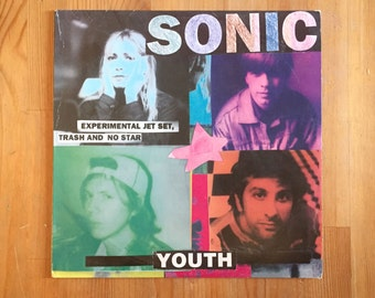 Sonic Youth: Experimental Jet Set, Trash and No Star 1994 Geffen Records Blue LP