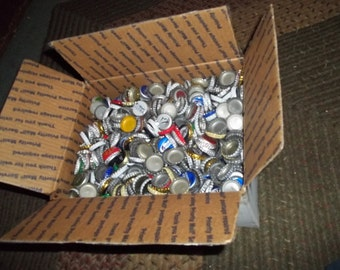 bottle caps in medium flat rate shipping box