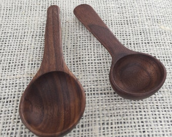 Walnut Scoops Spoons Handmade