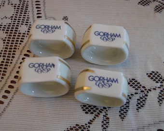 4 Gorham Ceramic Napkin Rings