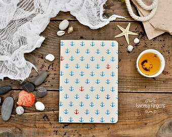 Anchor pattern notebook-sketchbook