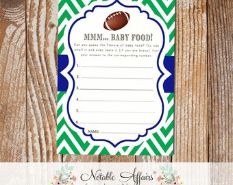 Baby Food Game Sheet -  Guess the Baby Food Flavors - choose you colors from the chart - Made to match your purchased invitation design