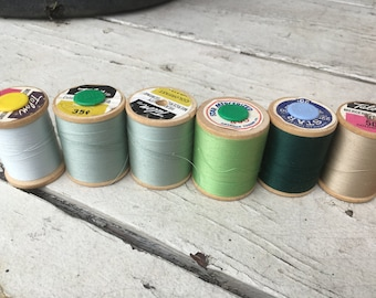 Thread Vintage, Greens and blues