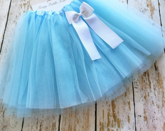Light Blue TuTu, Baby TuTu with matching bow, Toddler Tu Tu, Ballerina Tu Tu, Baby Tu Tus, Tutus, Baby Tutus