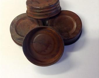 Vintage looking Mason Jar Lids