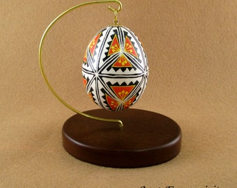 Pysanky Pisanki Ukrainian Polish Easter Egg Clover Hand Decorated Chicken Egg