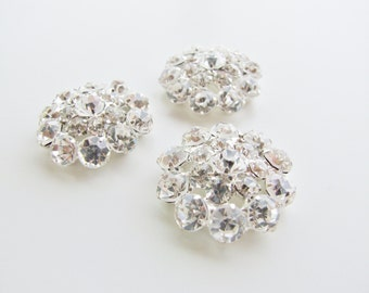 30mm Glass Rhinestone Buttons [MB0026]