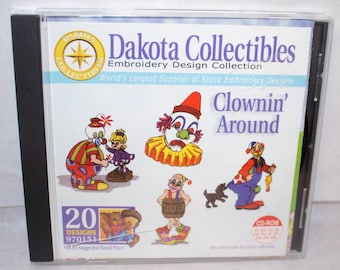 Embroidery design CD-Dakota Collections- Clown Around