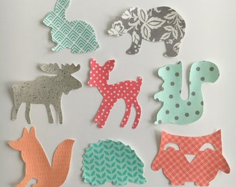 Iron On Appliques Woodland Animal Applique Set for Baby Shower Craft Activity