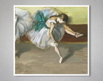 Danseuse Au Repos  by Edgar Degas - Poster Paper, Sticker or Canvas Print