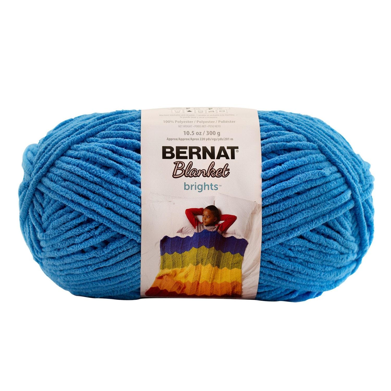 Bernat Blanket Brights Yarn Busy Blue Large Skein 300