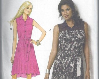 Butterick B6020 - UNCUT Misses' Button-Up Shirtdress Sewing Pattern - Sizes 6-14