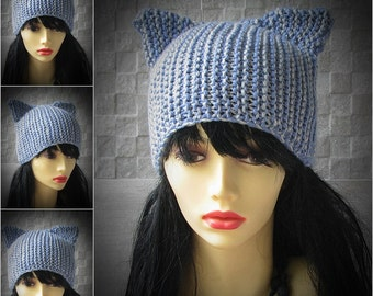 Cat Ears Beanie Knit Cat ears hat Beanie Hats  Knitting Knit Hat Perfect Accessories for her