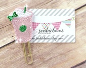 Pink/Green/Coffee/Latte/Sparkle Applique Paper Clip/Planner Clip/Bookmark/Journal Marker