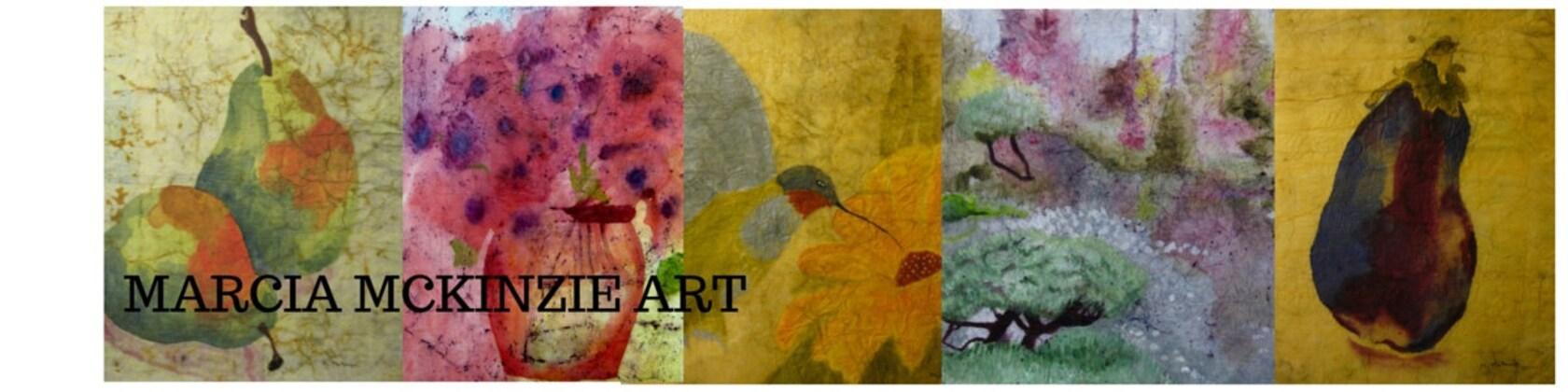 Marcia McKinzie Art Painting Artwork Watercolor Batiks on Rice Paper