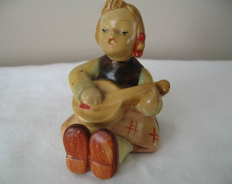 Vintage Hummel Hand Painted Girl Figurine