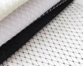 Russian Birdcage Veiling /  Birdcage Veil /  DIY Bridal Veil / Bridal Veil  Material / 9 inch