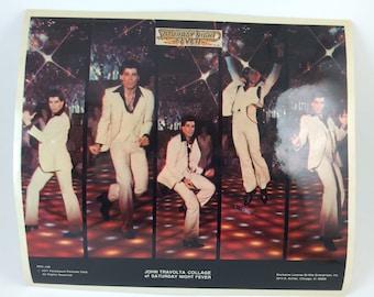 Saturday Night Fever Sticker 8x10 John Travolta disco dancing white suit