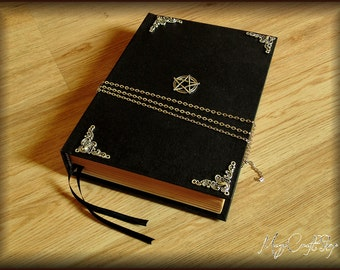 DISCOUNTED - Diary Book of Shadows GOTHIC with symbols - medium size 8,67x5,91 inch (22x16 cm)