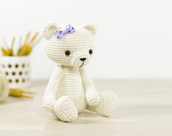 SALE -30% | Amigurumi teddy bear - Small 4-way jointed teddy bear