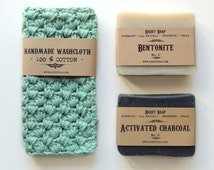 Soap gift set for men natural soap unscented soap groomsmen Gift for Father Gift for husband mens grooming Brother Gift under 25