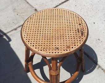 Vintage bamboo foot stool...FREE shipping!!!