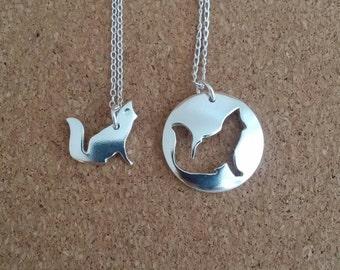 Fox necklace, Fox jewelry, Animal necklace, Fox, Silver necklace, Charm necklace, Silver fox, Fox charm, Woodland jewelry, Fox gift