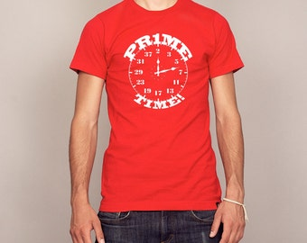 Hilarious Prime Time Math Clock T-shirt