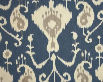 Magnolia Java Yacht Ikat Fabric  Home Decor Weight Fabric by the yard - Same Day Shipping Lattice Fretwork